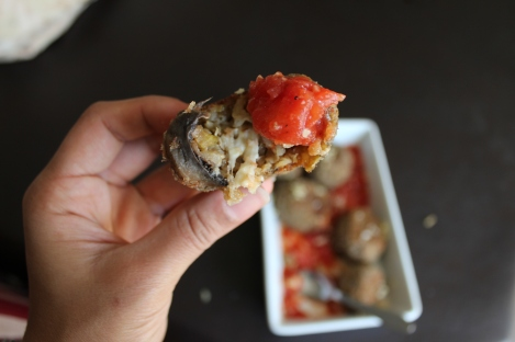 Baked ARANCINI with sauce